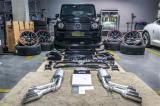 大动作,2019款奔驰G500改装G63AMG包围6出阀门可控排气管。,欧卡改装网,汽车改装