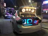 丰田卡罗拉改装德国斯洛琴三分频+酷炫尾箱工艺,欧卡改装网,汽车改装