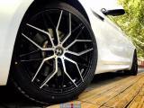 宝马6系轮毂改装轻量化锻造轮毂+车身贝壳白贴膜,欧卡改装网,汽车改装