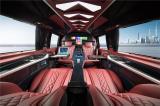 北京奔驰v260l改装红色内饰豪华商务车,欧卡改装网