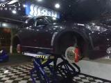 [深圳刹车改装]英菲尼迪QX70/FX35升级Brembo前六后四,欧卡改装网,汽车改装