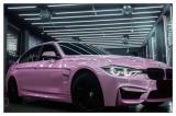 德州宝马3汽车改色贴膜樱花粉改色膜案例,欧卡改装网,汽车改装