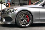 [奔驰刹车改装]奔驰C200升级前轮AMG大六和后轮加大盘,欧卡改装网