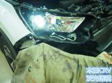 佛山本田CRV车灯改装GTR双光透镜效果,欧卡改装网,汽车改装