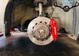 马自达昂克赛拉刹车改装升级AP9200大四刹车卡钳套件,欧卡改装网,汽车改装