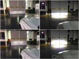 广州宝马5系车灯改装远光位置激光大灯实拍效果,欧卡改装网,汽车改装