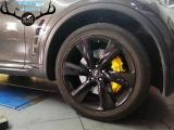 英菲尼迪QX70刹车改装Brembo前六后四刹车卡钳,完美制动,欧卡改装网,汽车改装