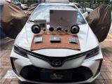 云浮2020款丰田卡罗拉汽车音响改装洛克力量R663三分频,欧卡改装网,汽车改装