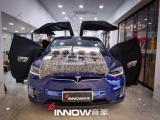上海特斯拉model X汽车音响改装德国彩虹GL-C6.3三分频喇叭,欧卡改装网,汽车改装
