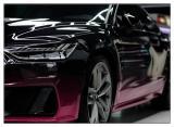 德州奥迪A7汽车改色贴膜定制渐变黑红改色膜,欧卡改装网,汽车改装