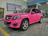 西安奔驰GLK汽车改色贴膜金沙粉改色膜,欧卡改装网,汽车改装
