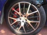 [玛莎拉蒂莱万特刹车改装]AP8520大六刹车卡钳、410刹车盘,欧卡改装网,汽车改装