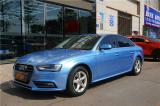长沙汽车改色贴膜奥迪A4贴TeckWrap超亮金属青雾蓝改色膜,欧卡改装网,汽车改装