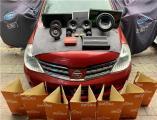云浮汽车音响改装日产骐达改装ZRN N62二分频喇叭,欧卡改装网,汽车改装