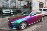 长沙汽车改色贴膜 奥迪A4贴溢彩极夜紫改色膜,欧卡改装网,汽车改装