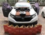 云浮汽车音响改装 本田CRV改装JBL二分频喇叭,欧卡改装网,汽车改装