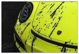 德州汽车改色贴膜 保时捷GT3橙黄绸黑盛宴改色膜,欧卡改装网,汽车改装