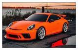 德州汽车改色贴膜 保时捷911 GT3消光火焰橙车身改色膜,欧卡改装网,汽车改装