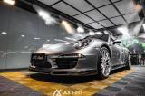 石家庄汽车改色贴膜 保时捷911贴GT银车身改色膜,欧卡改装网,汽车改装