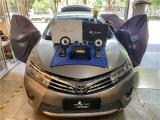 云浮汽车音响改装 丰田卡罗拉改装洛克力量R653三分频喇叭,欧卡改装网,汽车改装