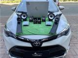 云浮汽车音响改装 丰田雷凌改装洛克力量R653三分频音响,欧卡改装网,汽车改装
