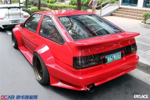 体后驱车 丰田AE86改装V8引擎