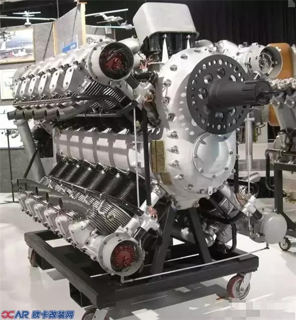 这是一台美国艾里逊的24缸航空发动机