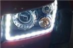 北京BJ40前大灯改装海拉五双光透镜LED日行灯,欧卡改装网