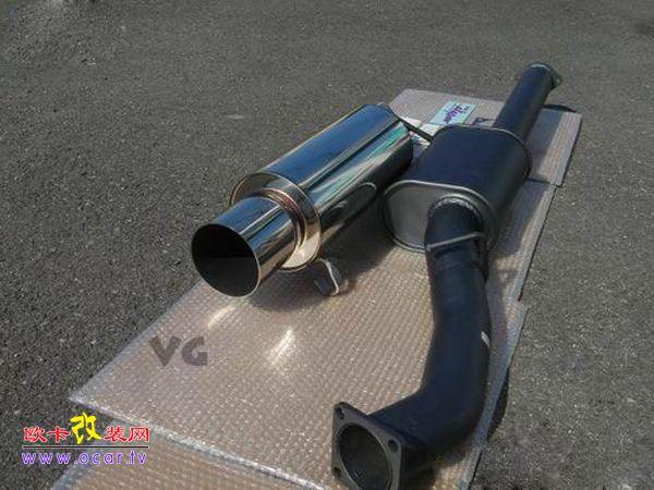 hks改装丰田supra的排气管
