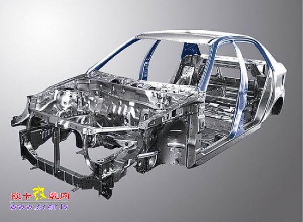 长安cs75汽车车身结构图采用什么钢材