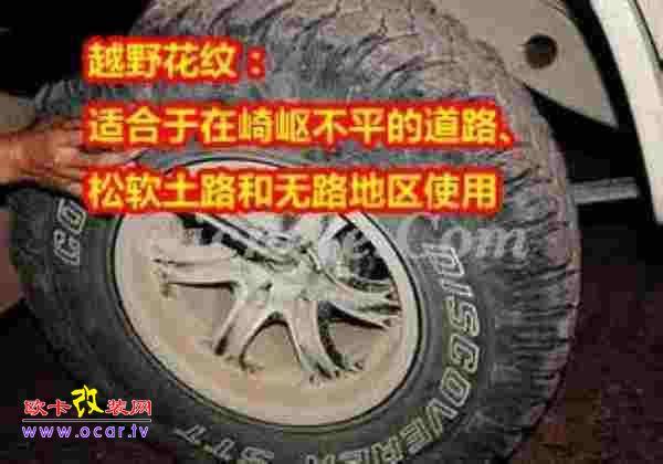 轮胎花纹的作用及分类