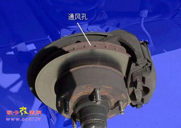 盘式刹车结构图;